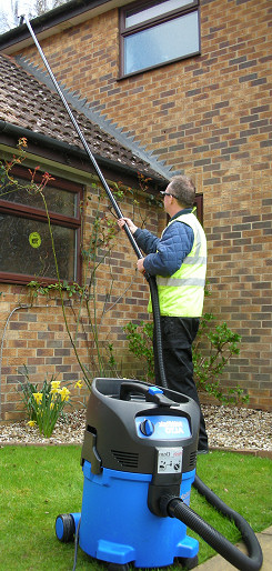 Vacuum cleaning gutters for residential customers in Otford and Sevenoaks
